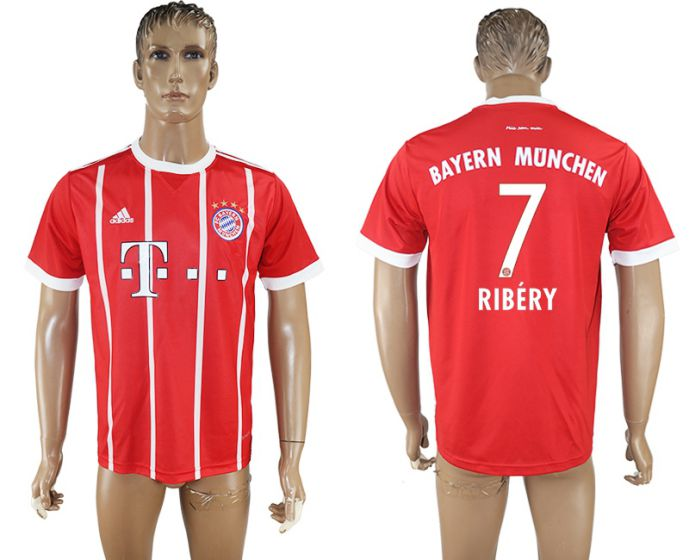 Hommes 2017-2018 club Bayern Munich accueil aaa version 7 rouge football maillot