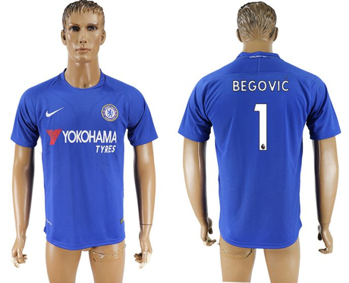Men 2017-2018 club Chelsea FC home aaa version 1 blue soccer jersey