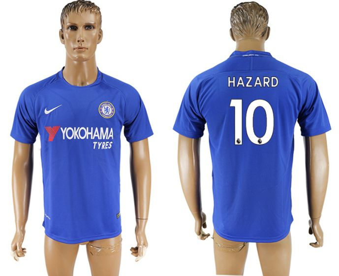 Men 2017-2018 club Chelsea FC home aaa version 10 blue soccer jersey