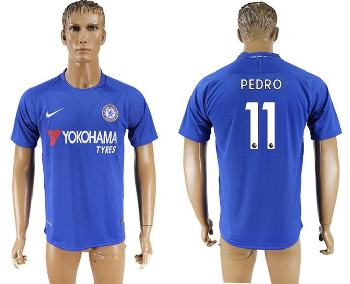 c94f37b46d4 Men 2017-2018 club Chelsea FC home aaa version 11 blue soccer jersey ...