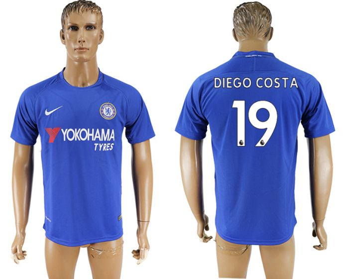 Men 2017-2018 club Chelsea FC home aaa version 19 blue soccer jersey