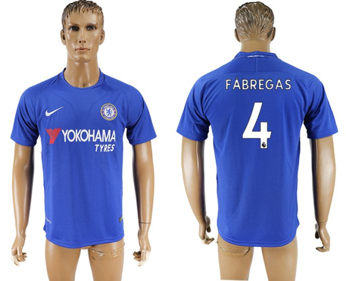 Men 2017-2018 club Chelsea FC home aaa version 4 blue soccer jersey