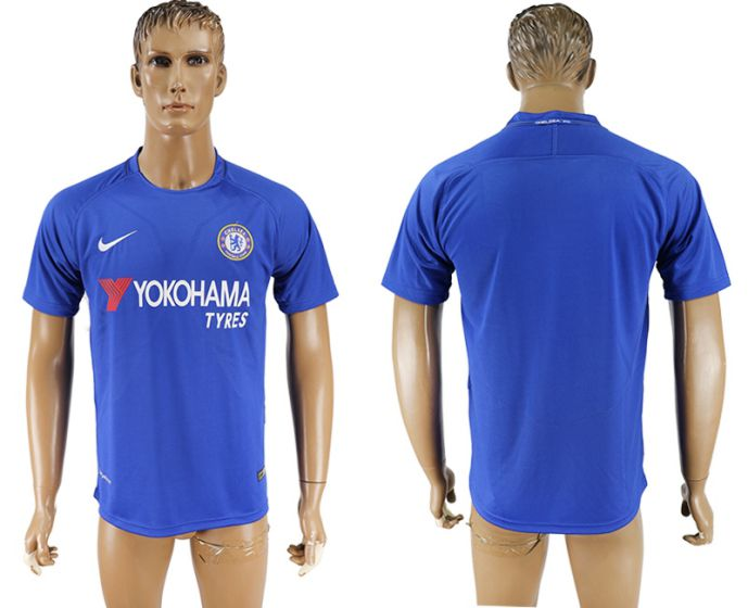 Men 2017-2018 club Chelsea FC home aaa version blue soccer jersey