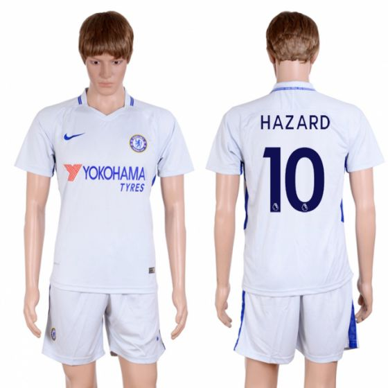 Men 2017-2018 club Chelsea away 10 Grey soccer jersey