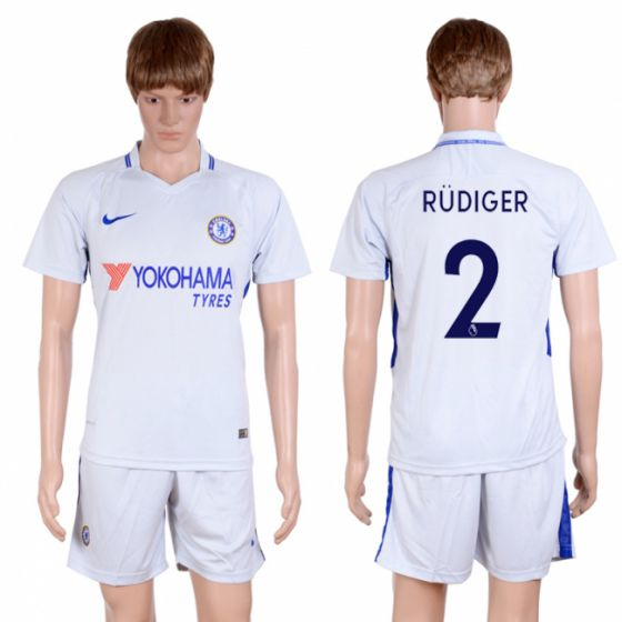 Men 2017-2018 club Chelsea away 2 Grey soccer jersey