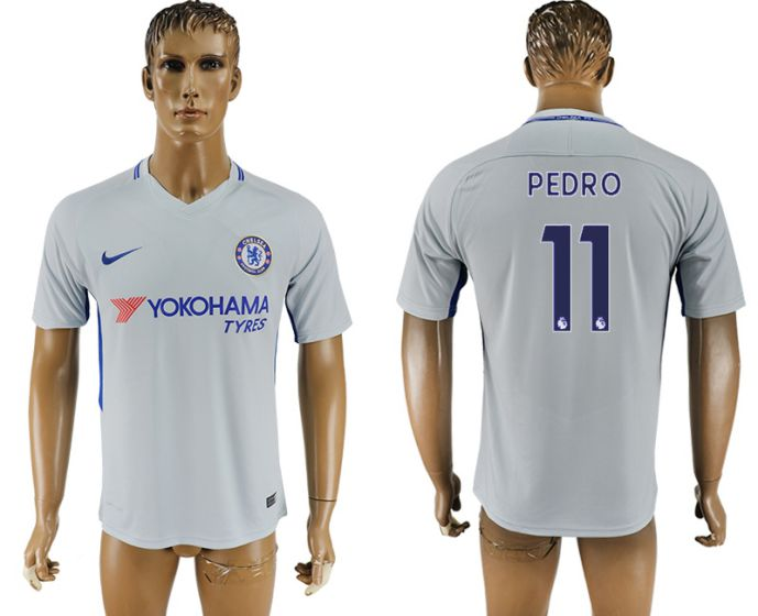 Men 2017-2018 club Chelsea away aaa version 11 Grey soccer jersey