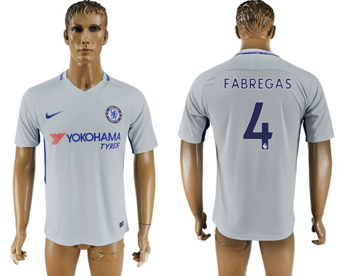 Men 2017-2018 club Chelsea away aaa version 4 Grey soccer jersey