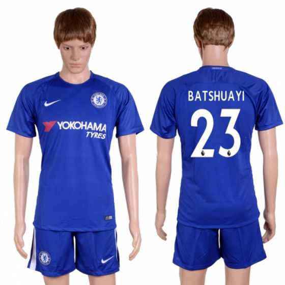 Men 2017-2018 club Chelsea home 23 blue soccer jersey