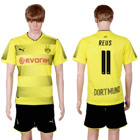 Men 2017-2018 club Dortmund home 11 yellow soccer jersey