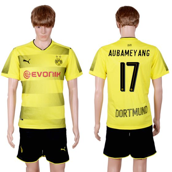 Men 2017-2018 club Dortmund home 17 yellow soccer jersey