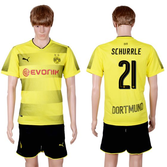Men 2017-2018 club Dortmund home 21 yellow soccer jersey