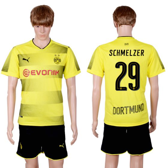 Men 2017-2018 club Dortmund home 29 yellow soccer jersey