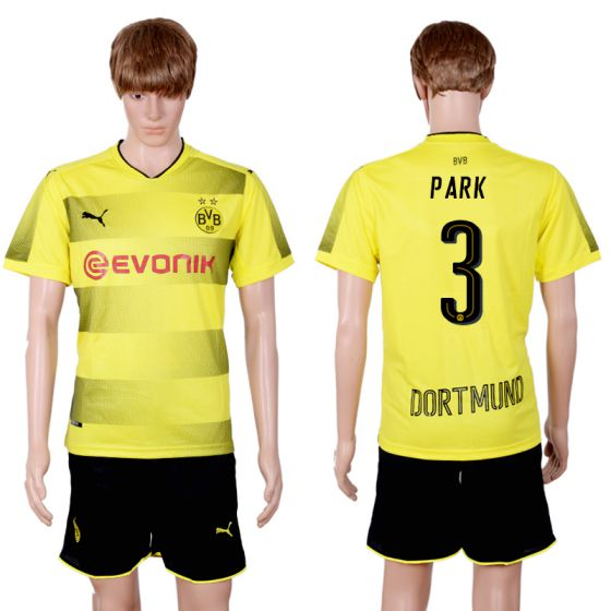 Men 2017-2018 club Dortmund home 3 yellow soccer jersey