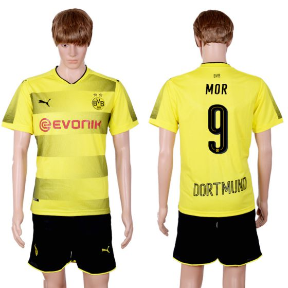 Men 2017-2018 club Dortmund home 9 yellow soccer jersey