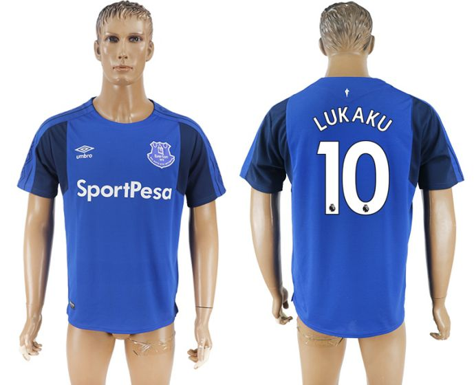Men 2017-2018 club Everton FC home aaa versio 10 blue soccer jersey