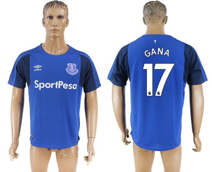 Men 2017-2018 club Everton FC home aaa versio 17 blue soccer jersey