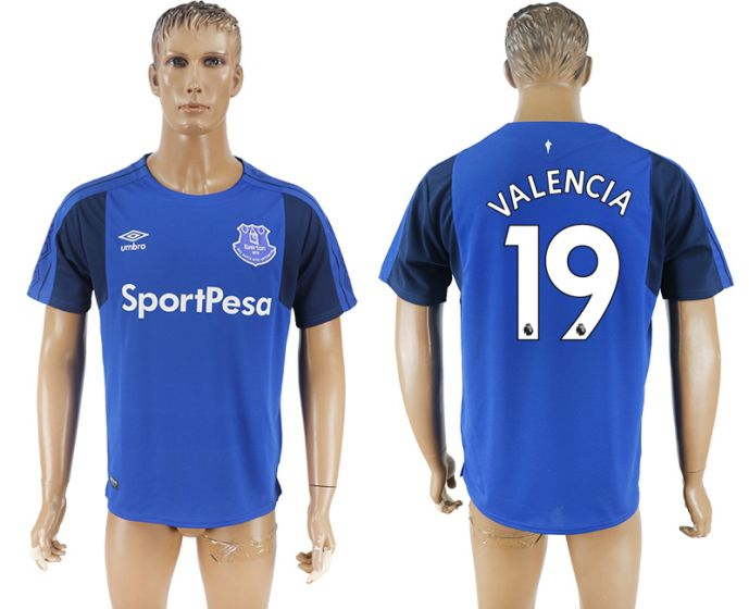 Men 2017-2018 club Everton FC home aaa versio 19 blue soccer jersey