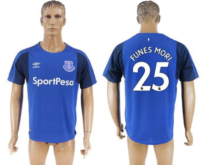 Men 2017-2018 club Everton FC home aaa versio 25 blue soccer jersey
