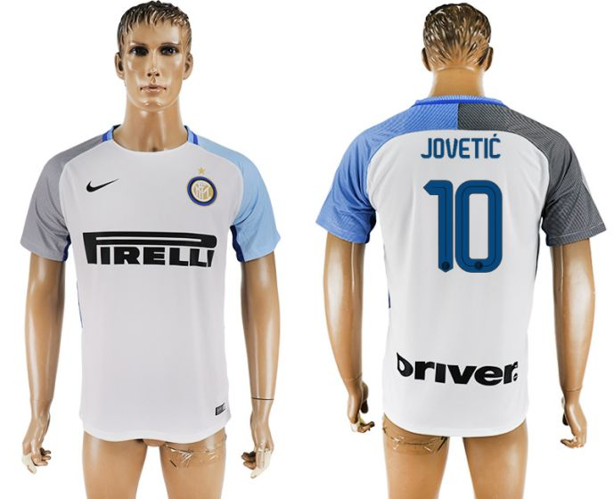 Men 2017-2018 club Inter milan away aaa version 10 white soccer jersey