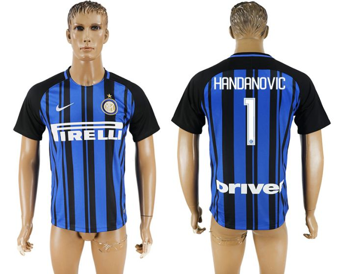 Men 2017-2018 club Inter milan home aaa version 1 blue soccer jersey