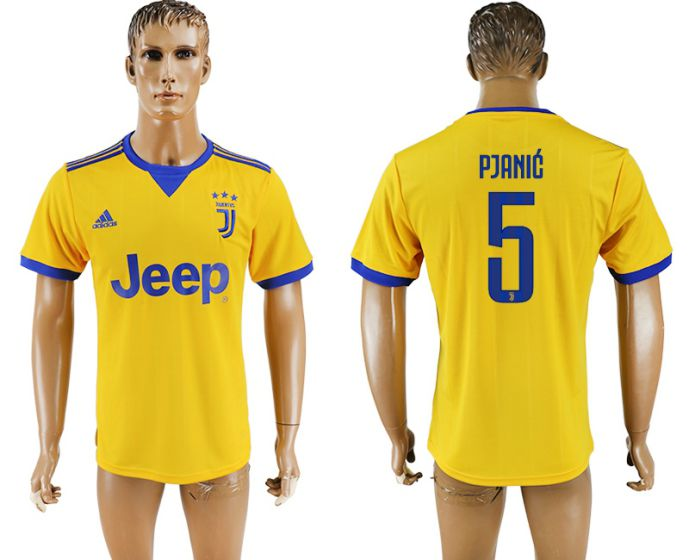 Hommes 2017-2018 club Juventus loin aaa version 5 maillot de football jaune