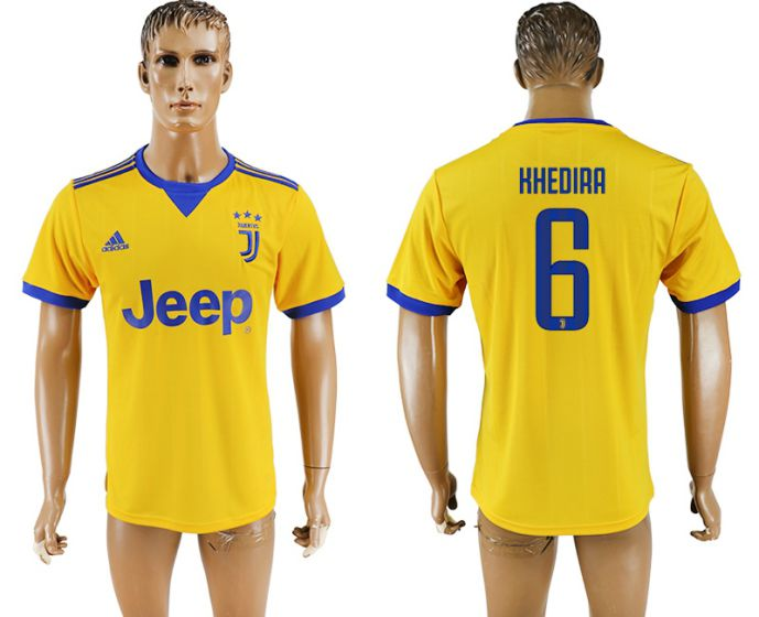 Hommes 2017-2018 club Juventus loin aaa version 6 jaune maillot de football