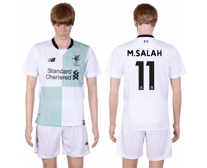 Men 2017-2018 club Liverpool away 11 white soccer jersey