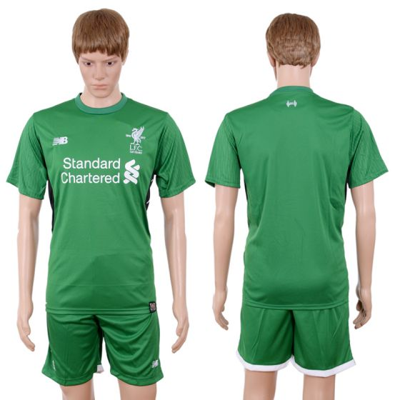 Men 2017-2018 club Liverpool goalkeeper blank green soccer jersey