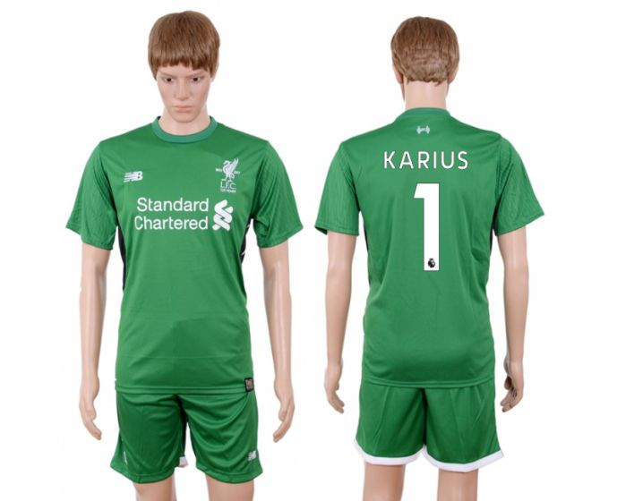 Men 2017-2018 club Liverpool goalkeeper 1 green soccer jersey