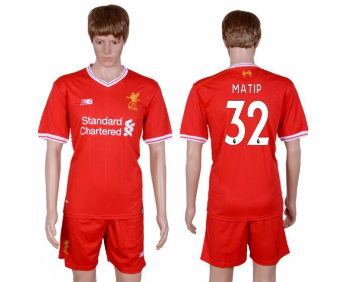 Men 2017-2018 club Liverpool home 32 red soccer jersey