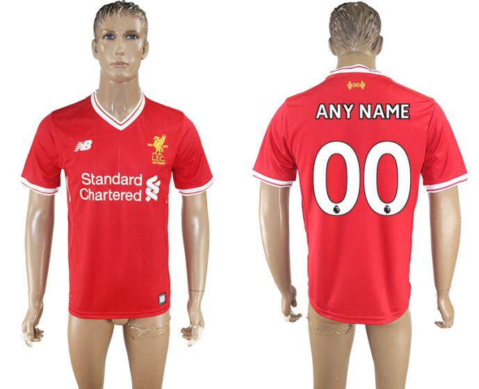 Men 2017-2018 club Liverpool home aaa version customized red soccer jersey