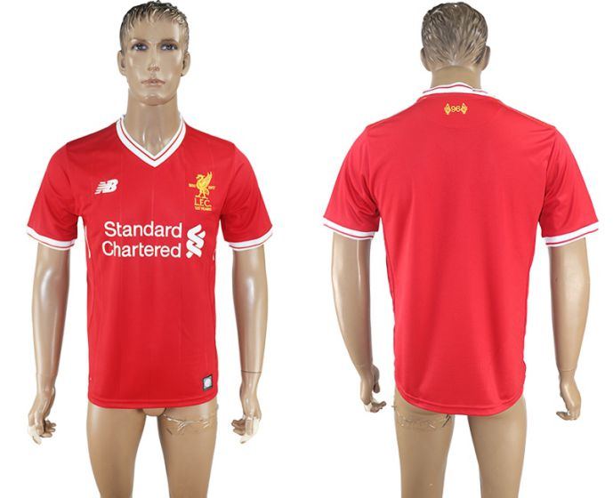 Men 2017-2018 club Liverpool home aaa version red soccer jersey