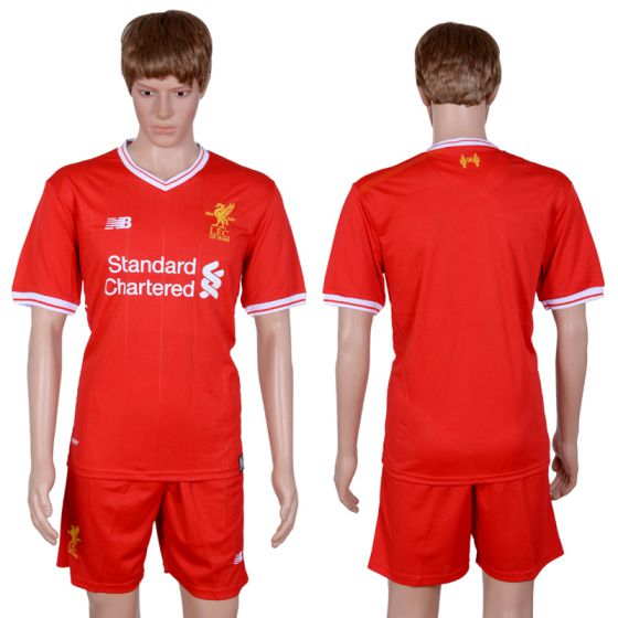 Men 2017-2018 club Liverpool home blank red soccer jersey