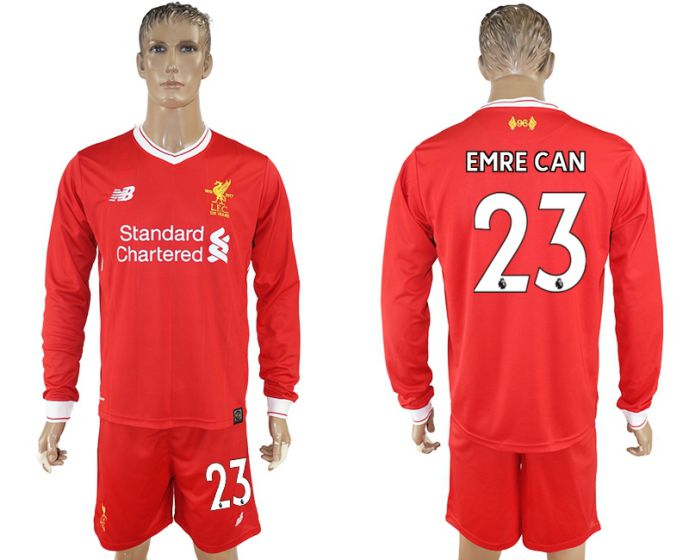 Men 2017-2018 club Liverpool home long sleeves 23 soccer jersey