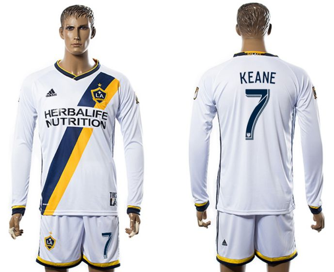 Men 2017-2018 club Los Angeles Galaxy home long sleeve 7 soccer jersey