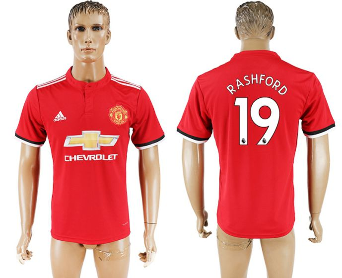 Hommes 2017-2018 club Manchester United accueil aaa version 19 rouge football jersey