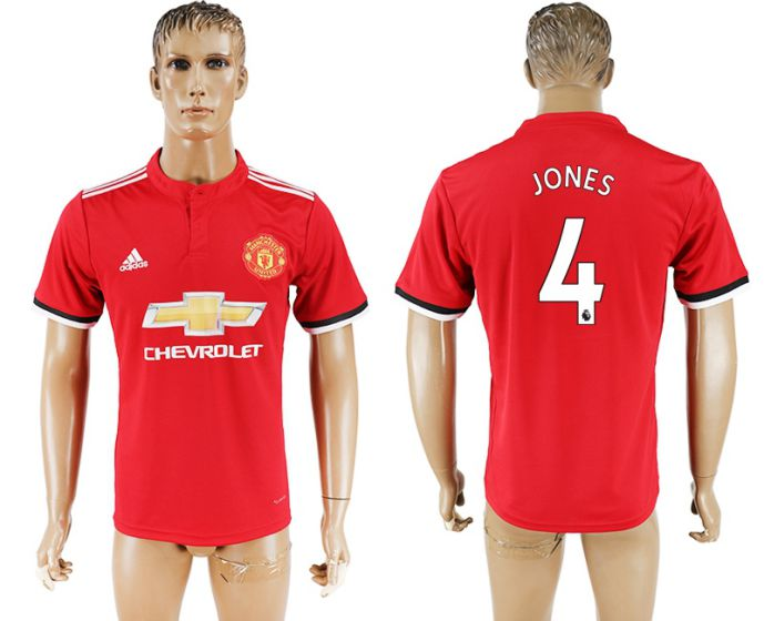 Hommes 2017-2018 club Manchester United accueil aaa version 4 rouge football maillot