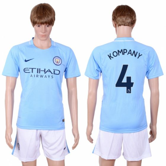 Men 2017-2018 club Manchester city away 4 Light blue soccer jersey