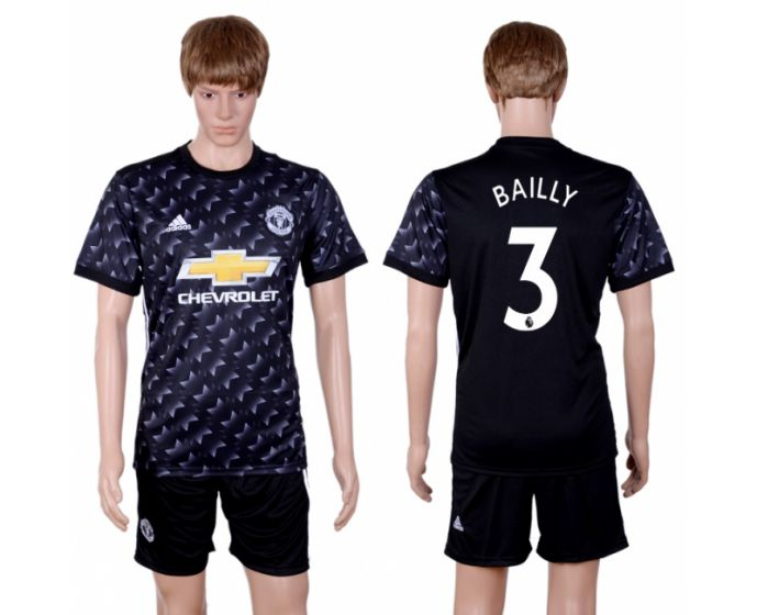 Hommes 2017-2018 club Manchester united away 3 maillot de football noir