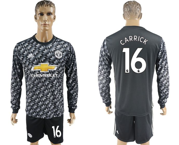 Men 2017-2018 club Manchester united away long sleeve 16 Soccer jersey