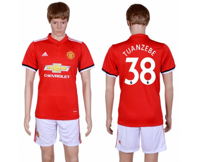 Men 2017-2018 club Manchester united home 38 red Soccer jersey