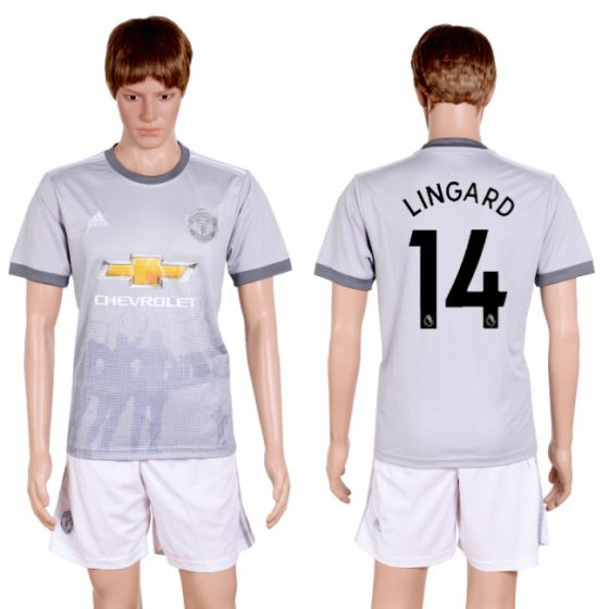 Men 2017-2018 club Manchester united second away 14 grey soccer jersey