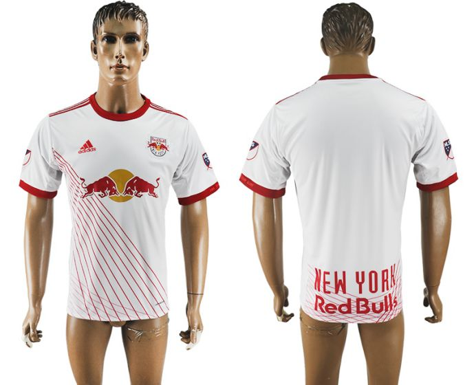Men 2017-2018 club New York Red Bulls home aaa version white soccer jersey