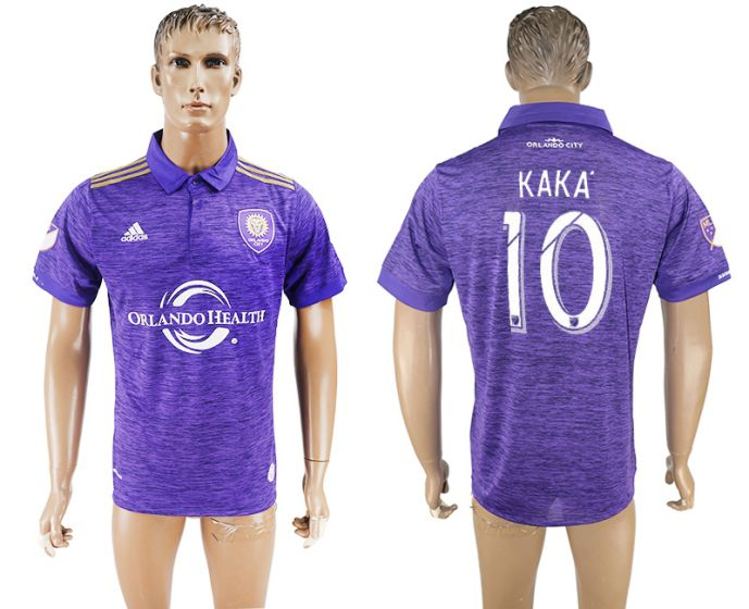 Men 2017-2018 club Orlando City home aaa version 10 purple soccer jersey