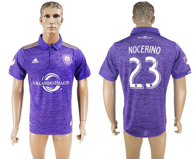 Men 2017-2018 club Orlando City home aaa version 23 purple soccer jersey