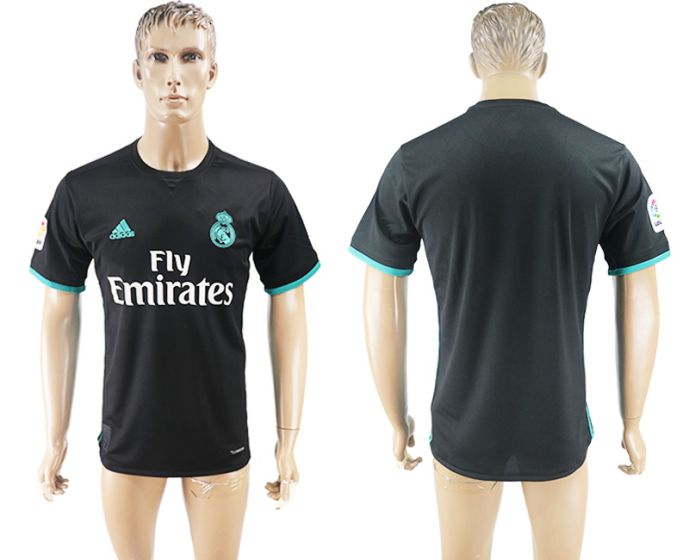 Men 2017-2018 club Real Madrid away aaa version black soccer jersey