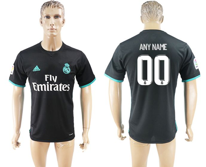 Men 2017-2018 club Real Madrid away aaa version customized black soccer jersey