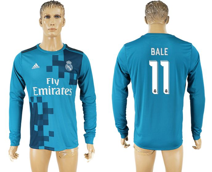 Men 2017-2018 club Real Madrid away long sleeve aaa version 11 soccer jersey