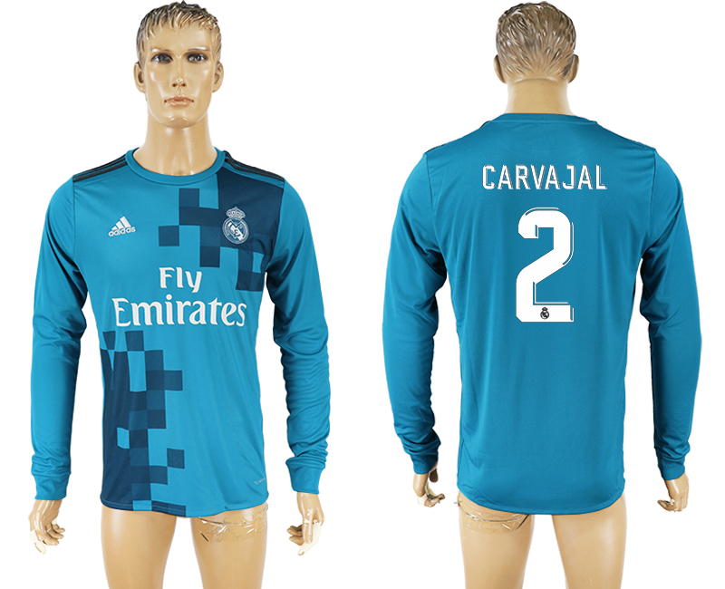Men 2017-2018 club Real Madrid away long sleeve aaa version 2 soccer jersey