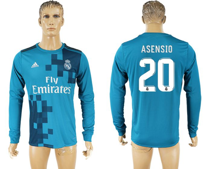 Men 2017-2018 club Real Madrid away long sleeve aaa version 20 soccer jersey